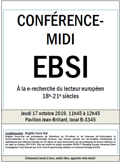 Prof Brigitte Ouvry-Vial presents READ-IT in Montreal, Canada (17.10.2019)