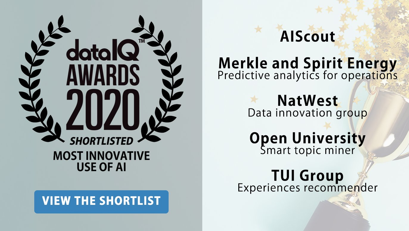 Finalists at DataIQ 2020 Awards