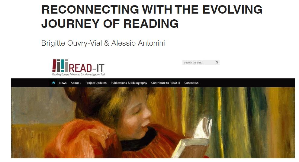 """Publication news: """"Reconnecting with the evolving journey of reading"""" (July 2021)"""